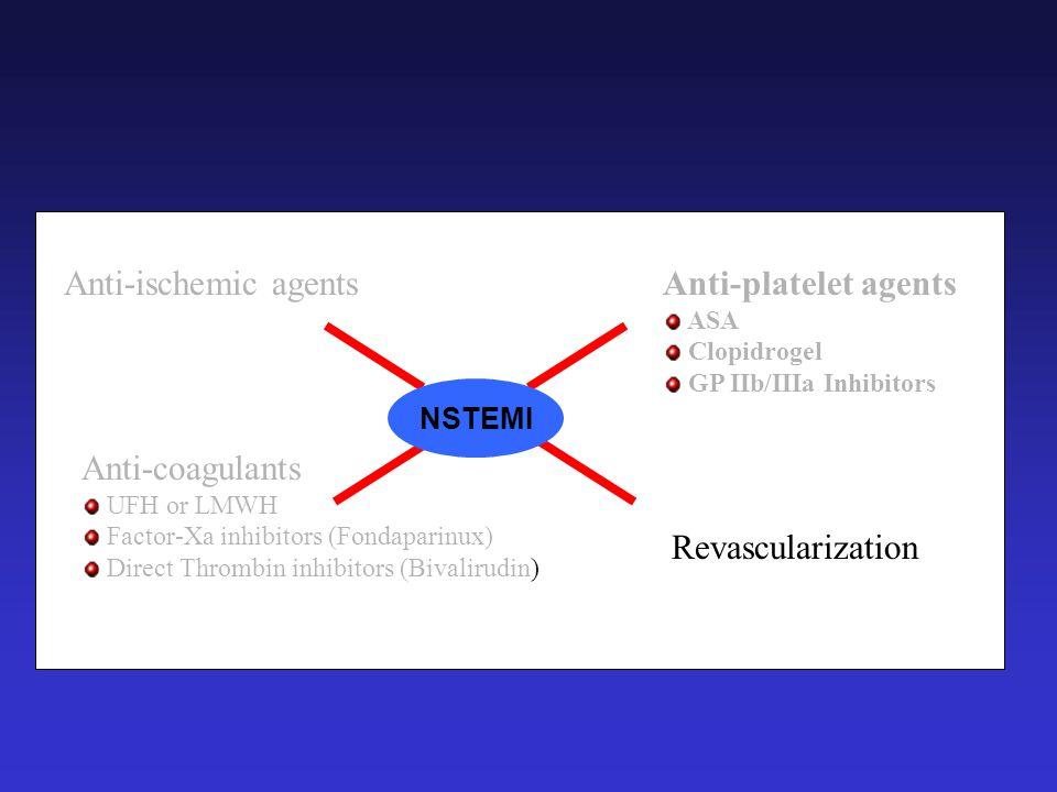 Anti-ischemic agents Anti-platelet agents Anti-coagulants