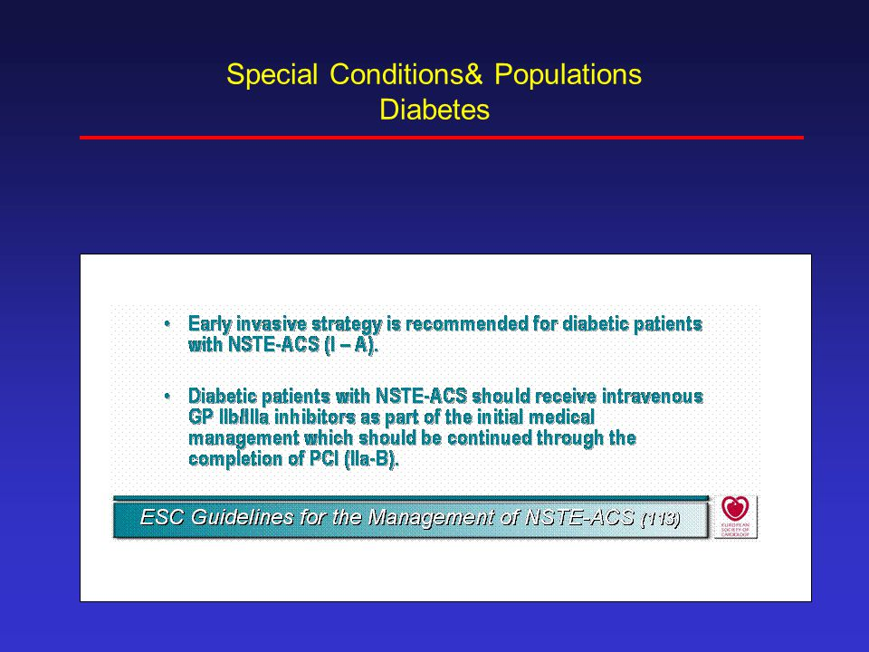 Special Conditions& Populations Diabetes