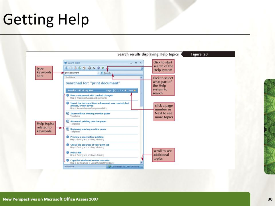 Getting Help New Perspectives on Microsoft Office Access 2007