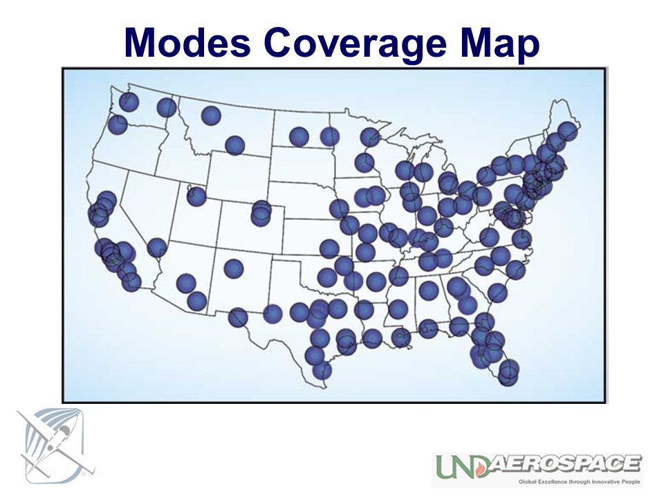 Modes Coverage Map