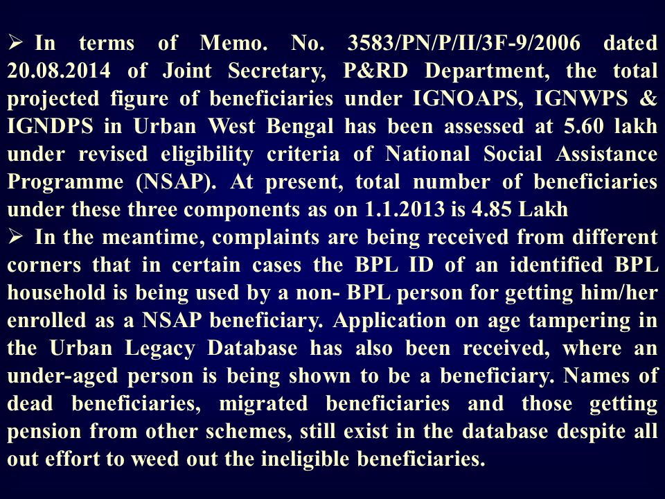 In terms of Memo. No. 3583/PN/P/II/3F-9/2006 dated 20. 08