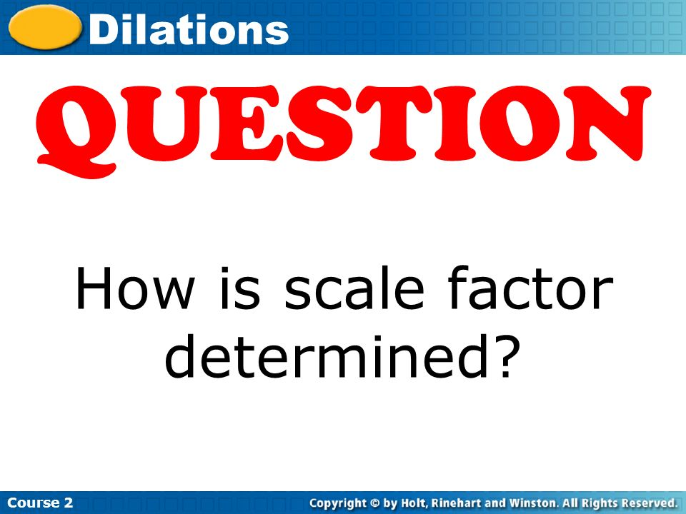 How is scale factor determined