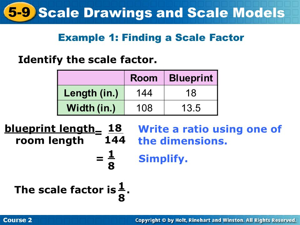 Example 1: Finding a Scale Factor