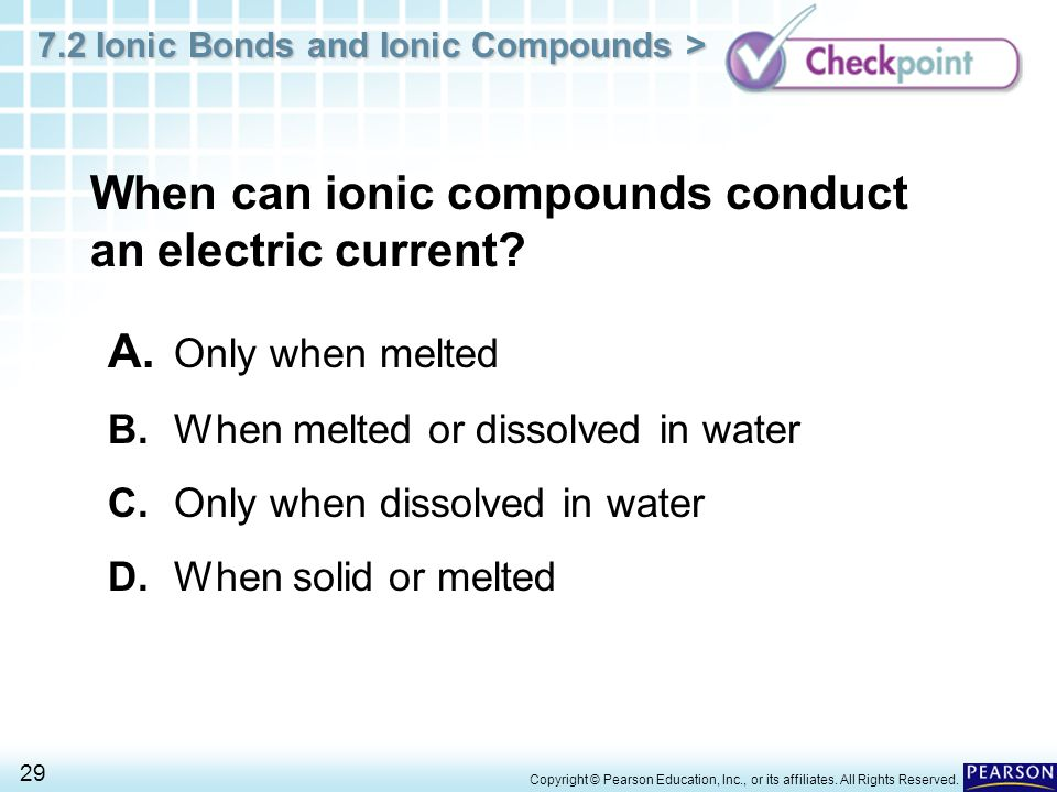 When can ionic compounds conduct an electric current