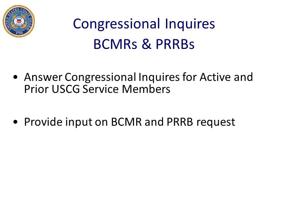 Congressional Inquires