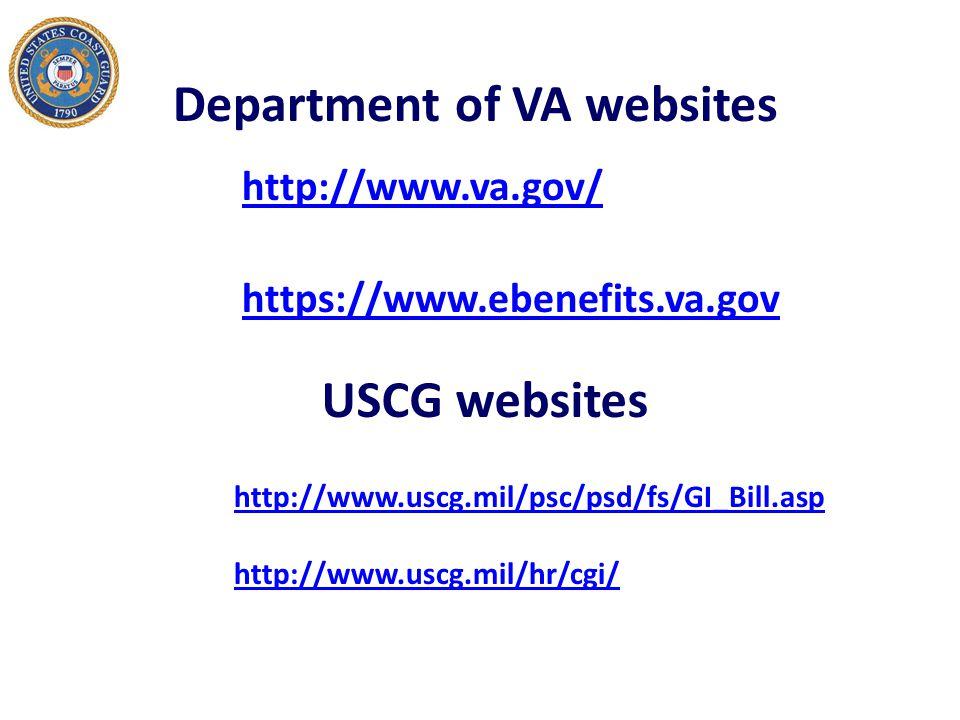 Department of VA websites
