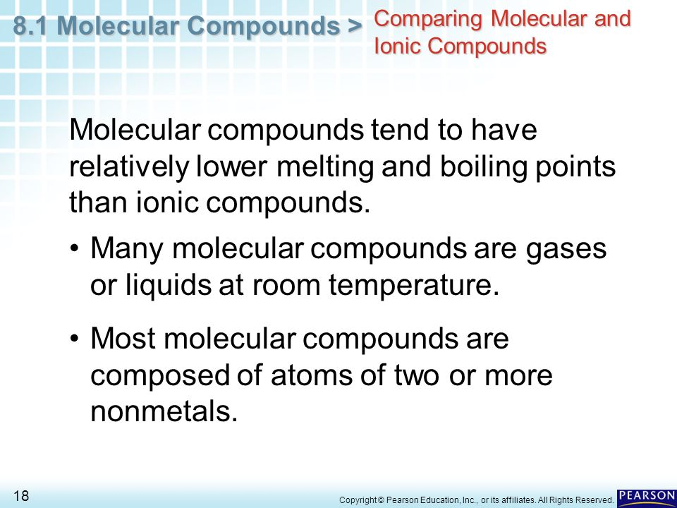 Comparing Molecular and Ionic Compounds