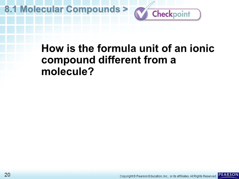 How is the formula unit of an ionic compound different from a molecule