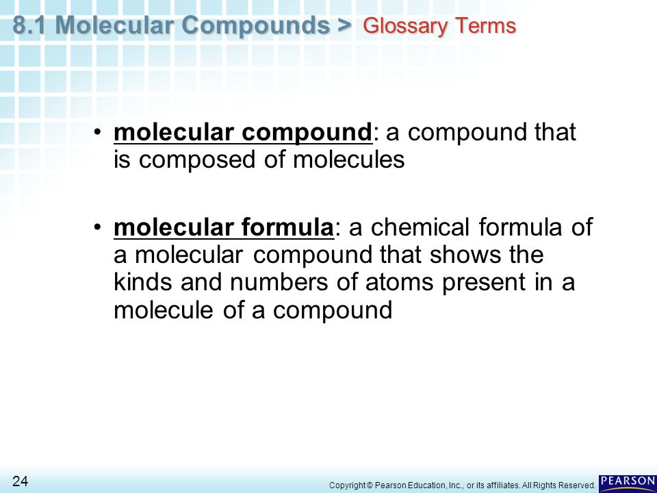molecular compound: a compound that is composed of molecules