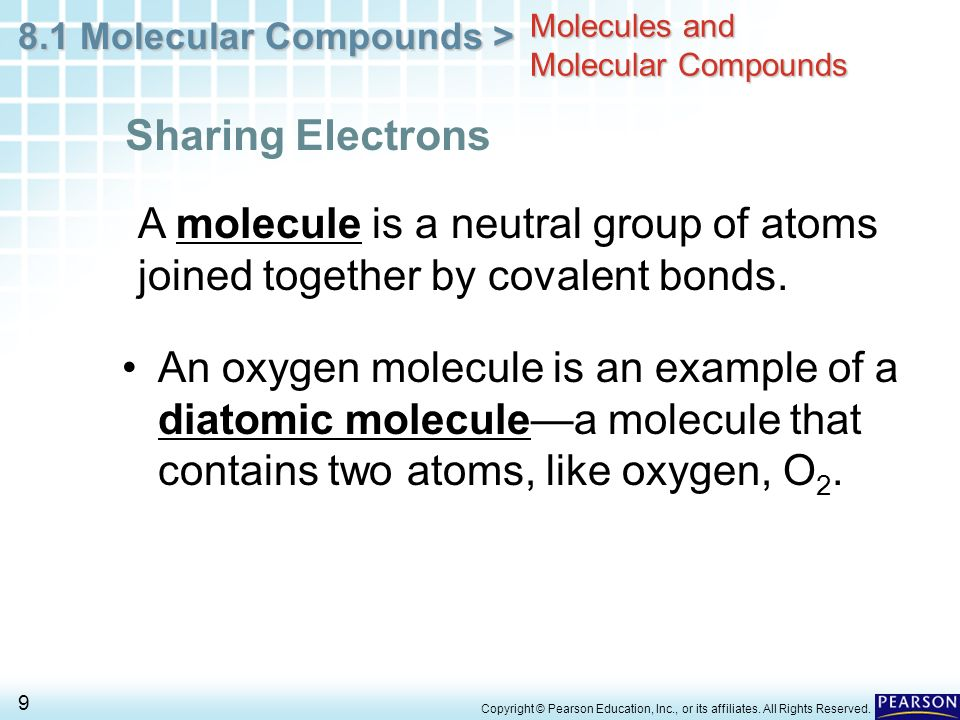 Molecules and Molecular Compounds