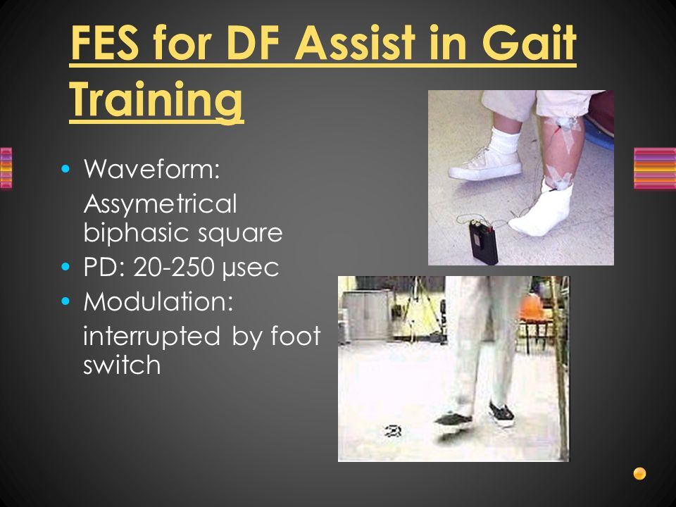 FES for DF Assist in Gait Training