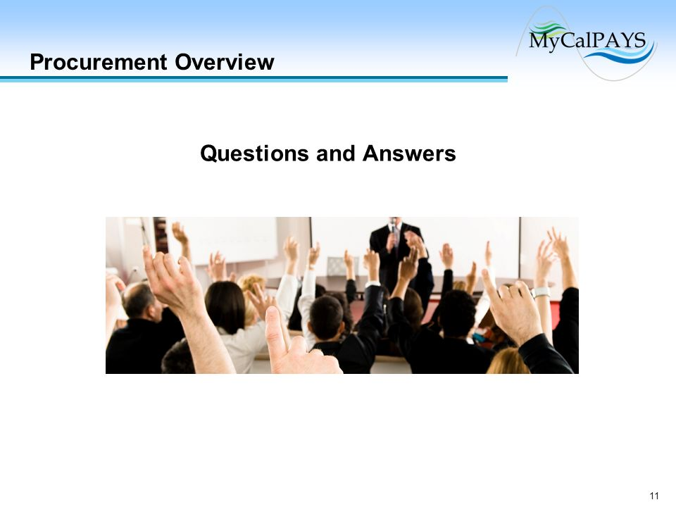 Procurement Overview Questions and Answers