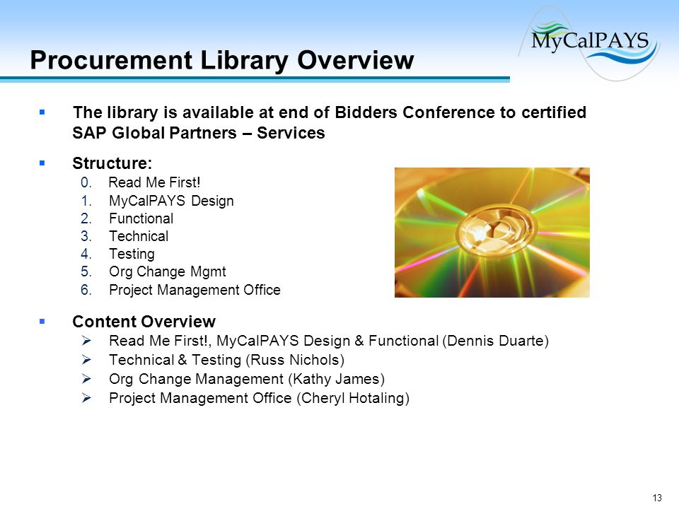 Procurement Library Overview