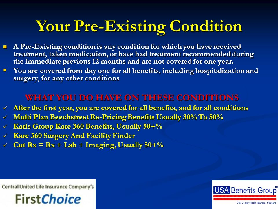 Your Pre-Existing Condition