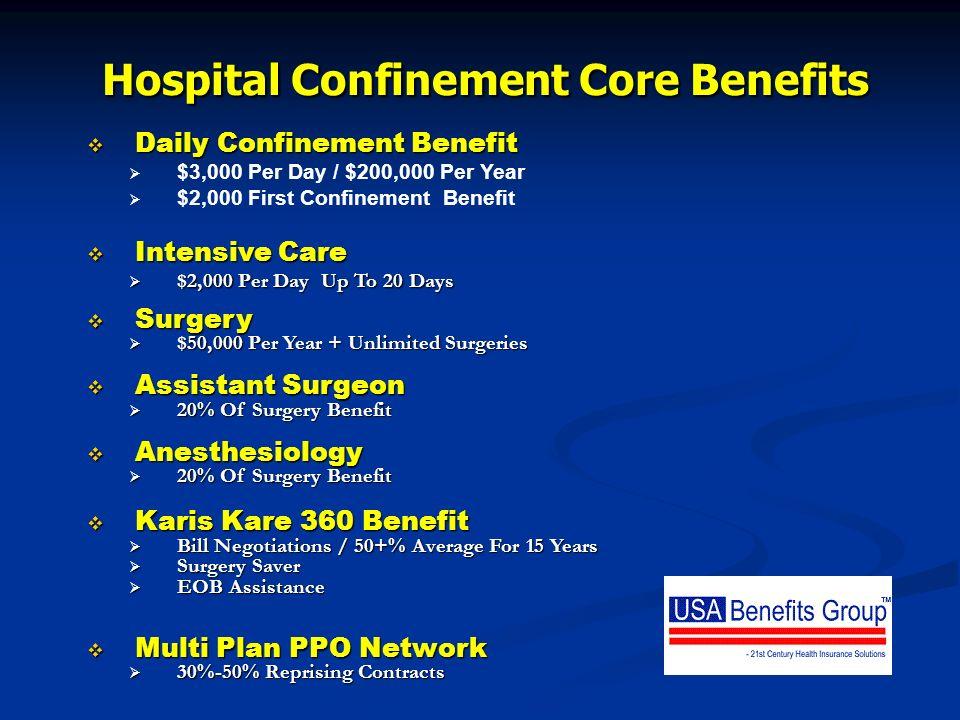 Hospital Confinement Core Benefits