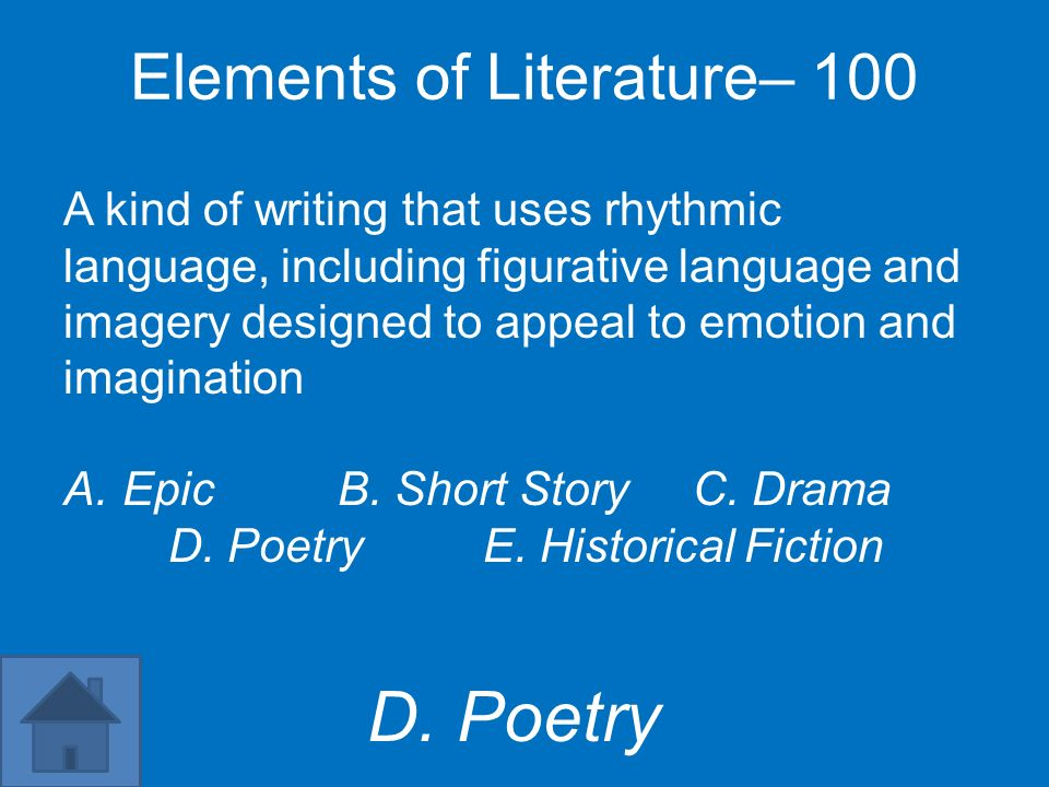 Elements of Literature– 100