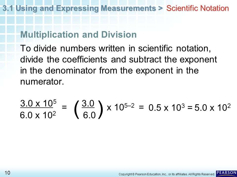 ( ) Multiplication and Division