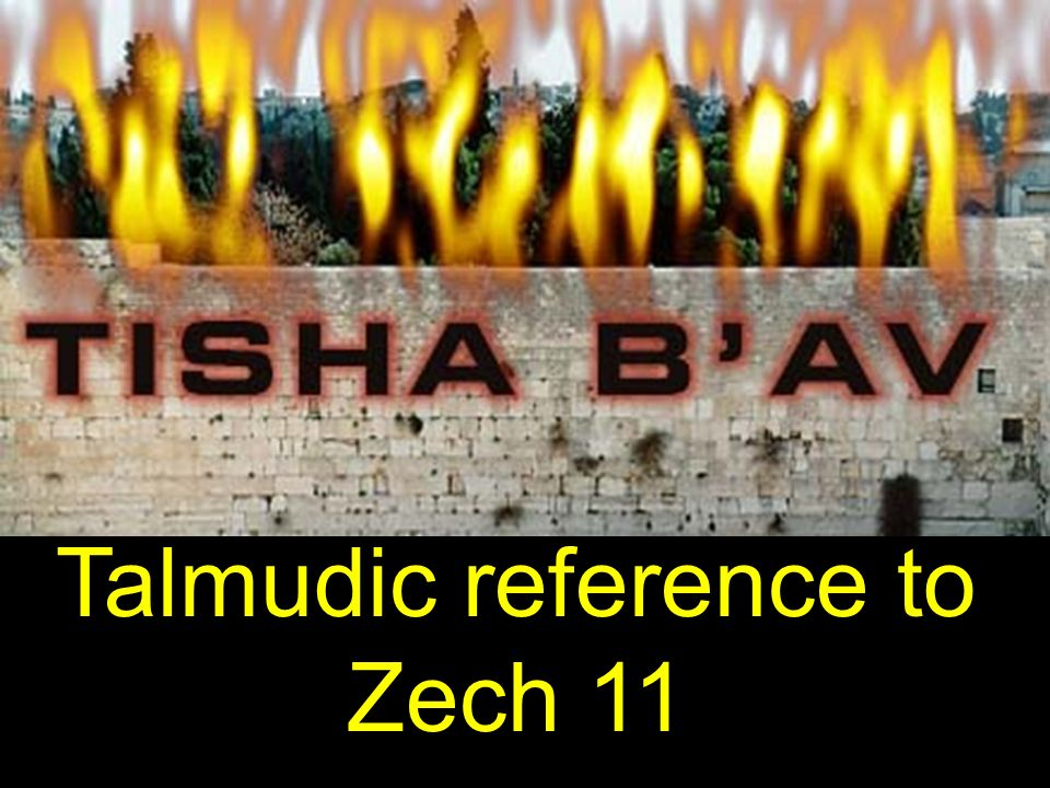 Talmudic reference to Zech 11