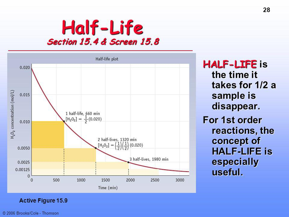 Half-Life Section 15.4 & Screen 15.8
