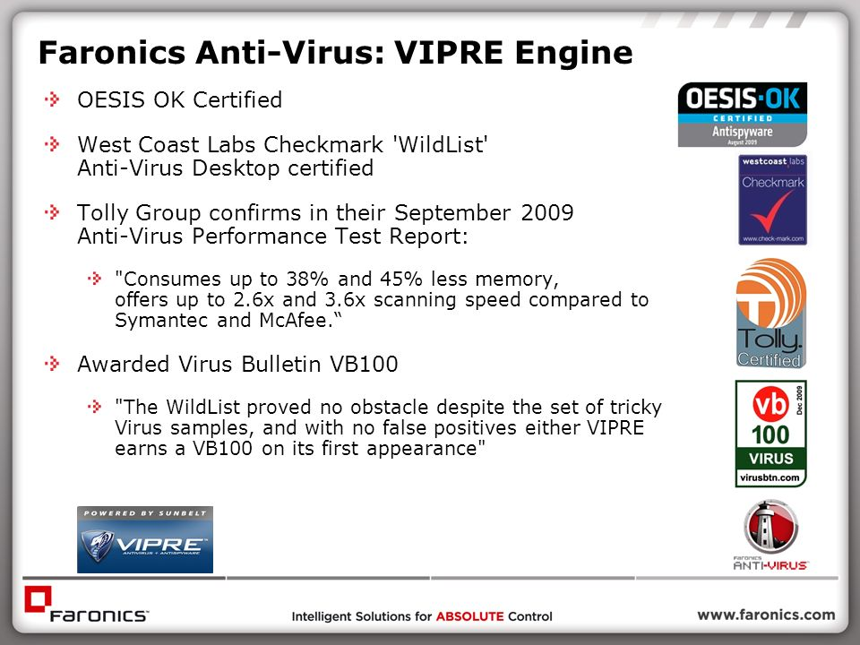 Faronics Anti-Virus: VIPRE Engine