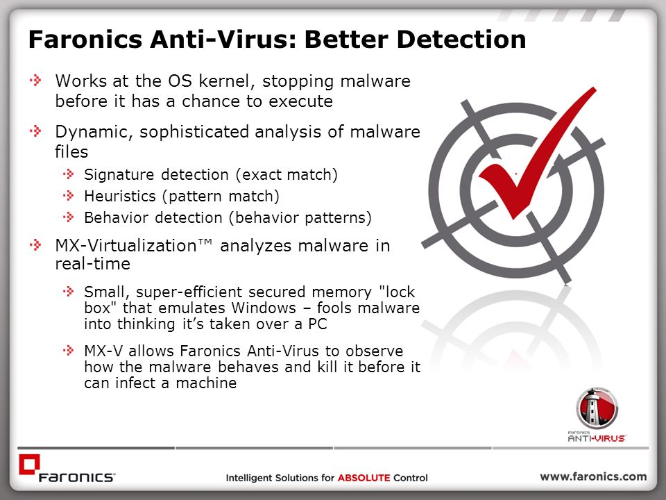 Faronics Anti-Virus: Better Detection