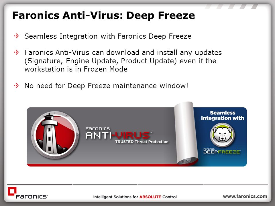 Faronics Anti-Virus: Deep Freeze