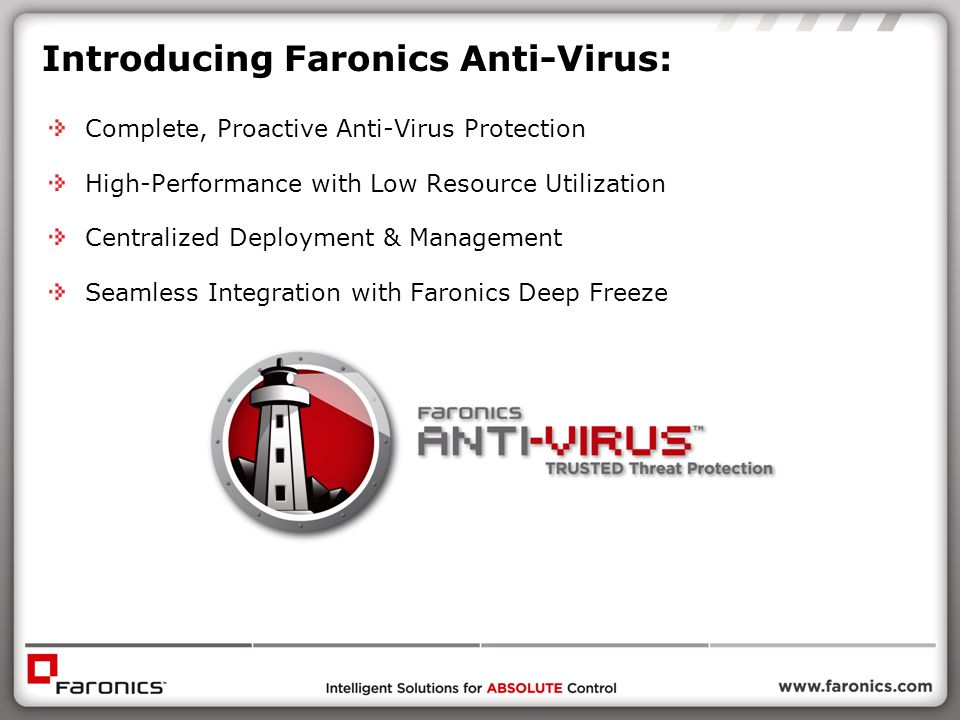 Introducing Faronics Anti-Virus: