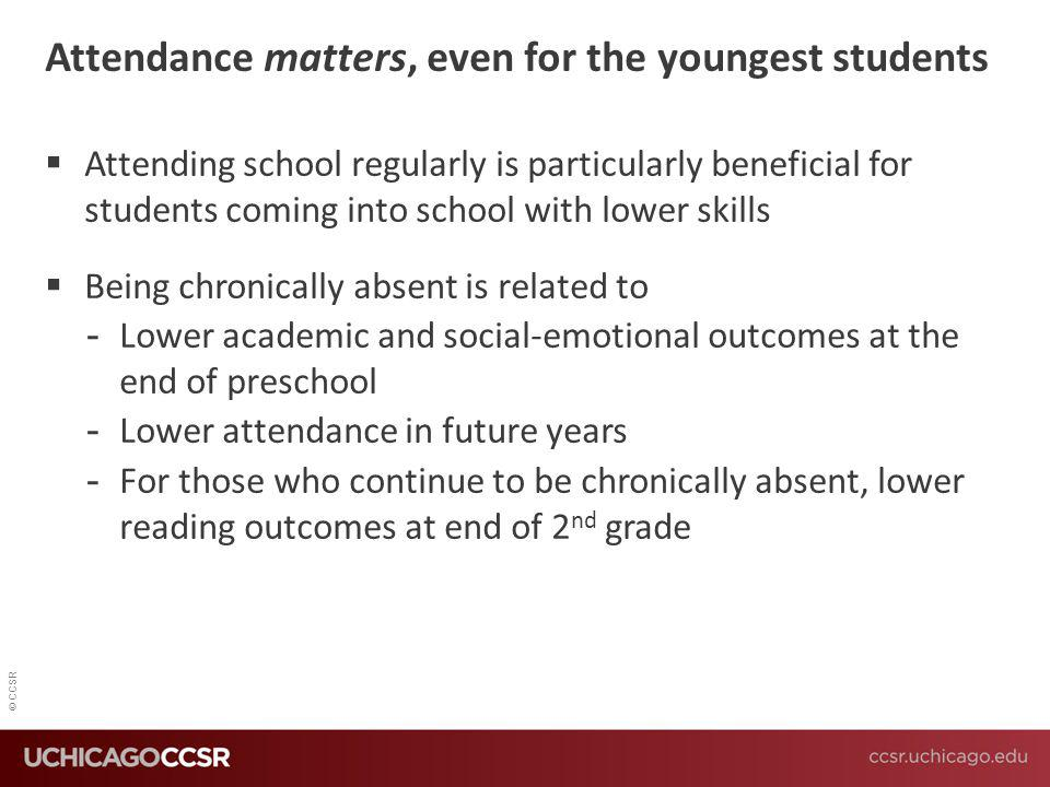 Attendance matters, even for the youngest students