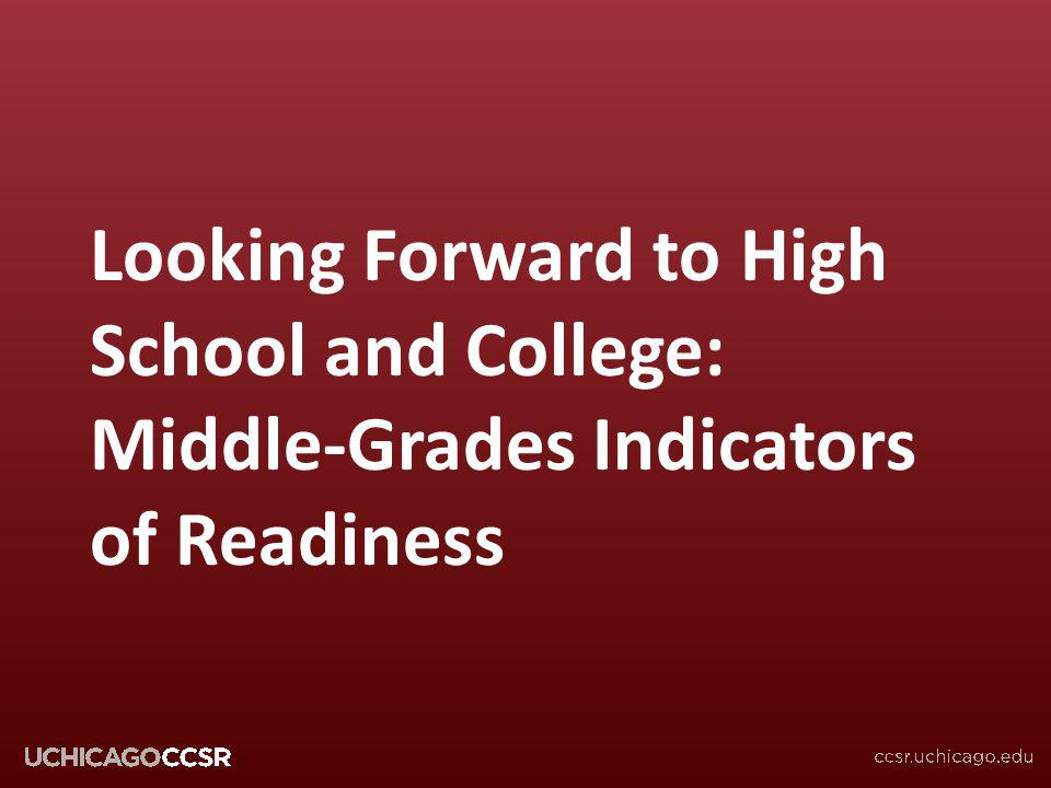 Looking Forward to High School and College: Middle-Grades Indicators of Readiness
