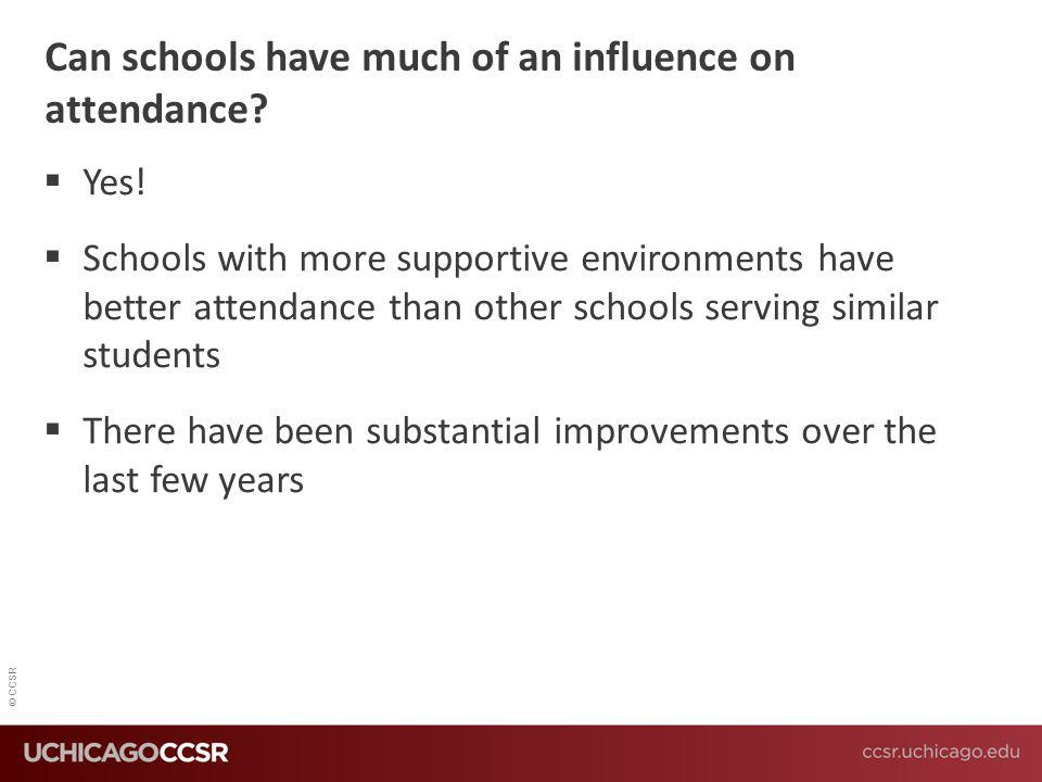 Can schools have much of an influence on attendance