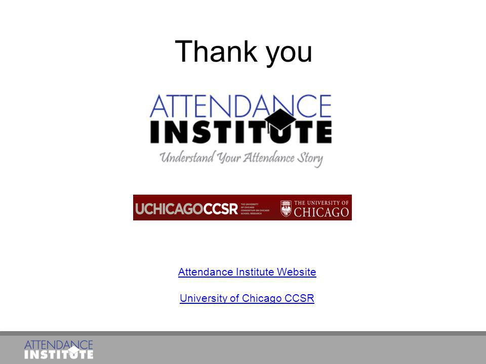 Attendance Institute Website University of Chicago CCSR