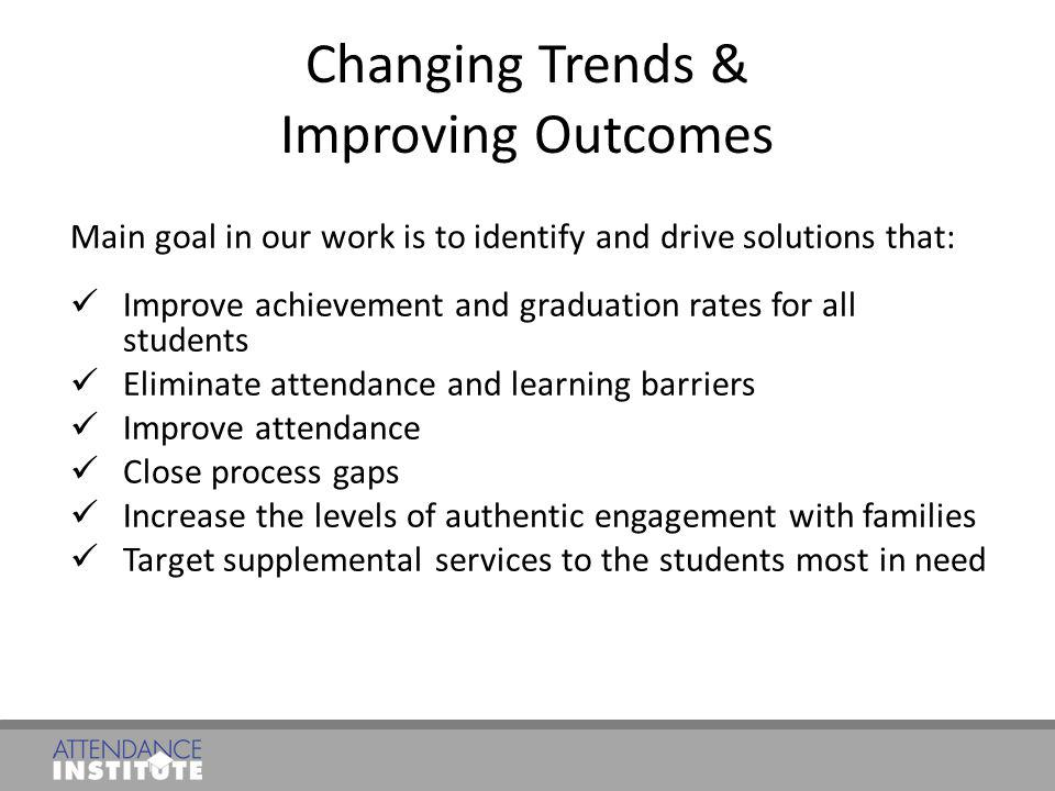 Changing Trends & Improving Outcomes