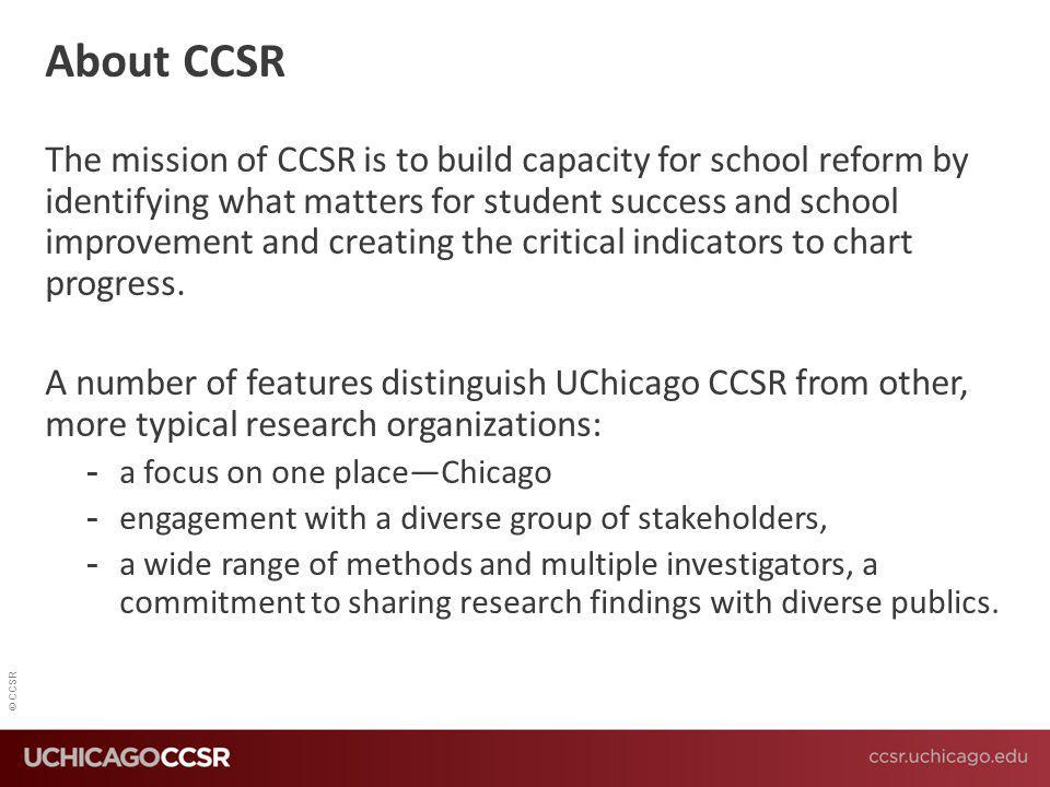 About CCSR