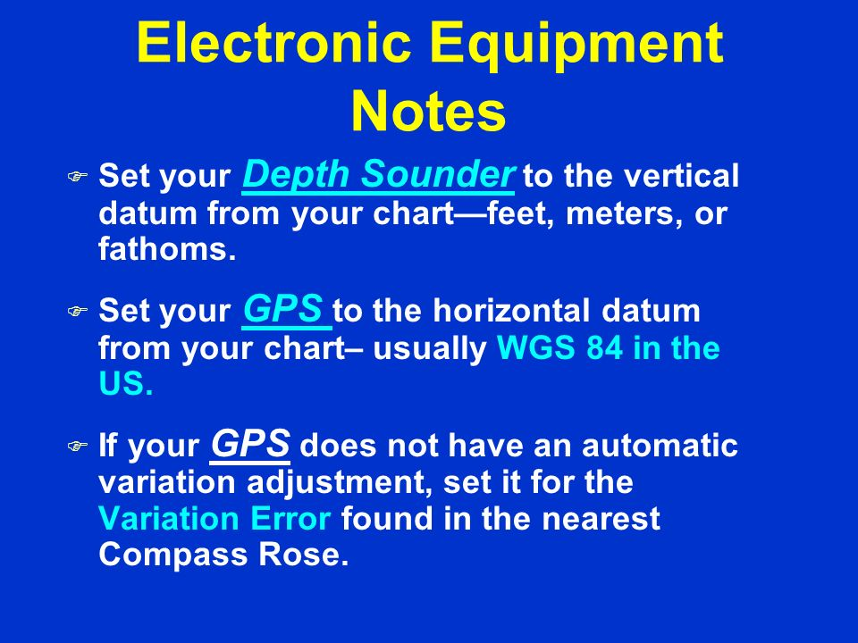 Electronic Equipment Notes