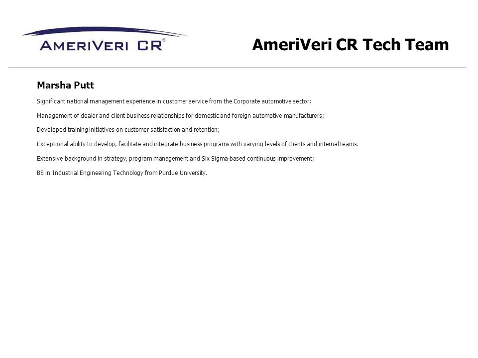 AmeriVeri CR Tech Team Marsha Putt