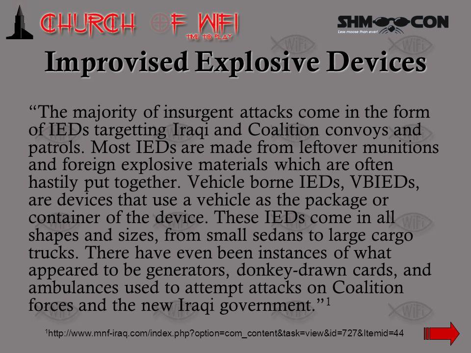 Improvised Explosive Devices