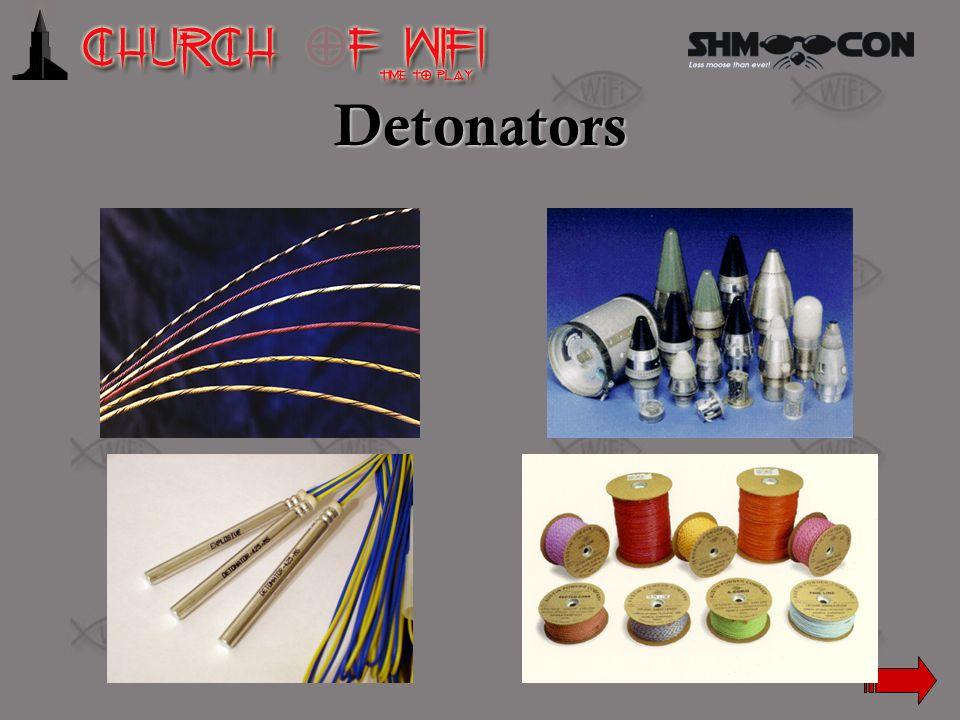 Detonators Det cord, various types of fuses, Blasting caps, more det cord