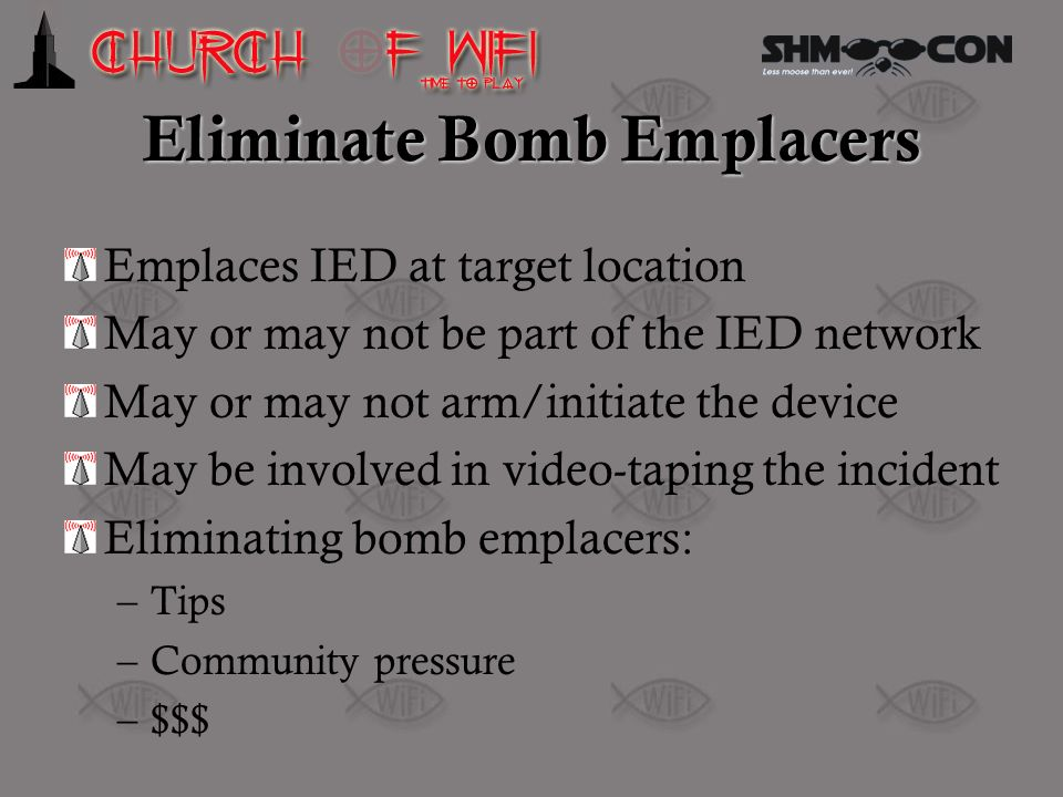 Eliminate Bomb Emplacers