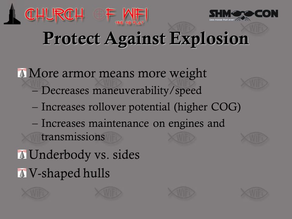 Protect Against Explosion