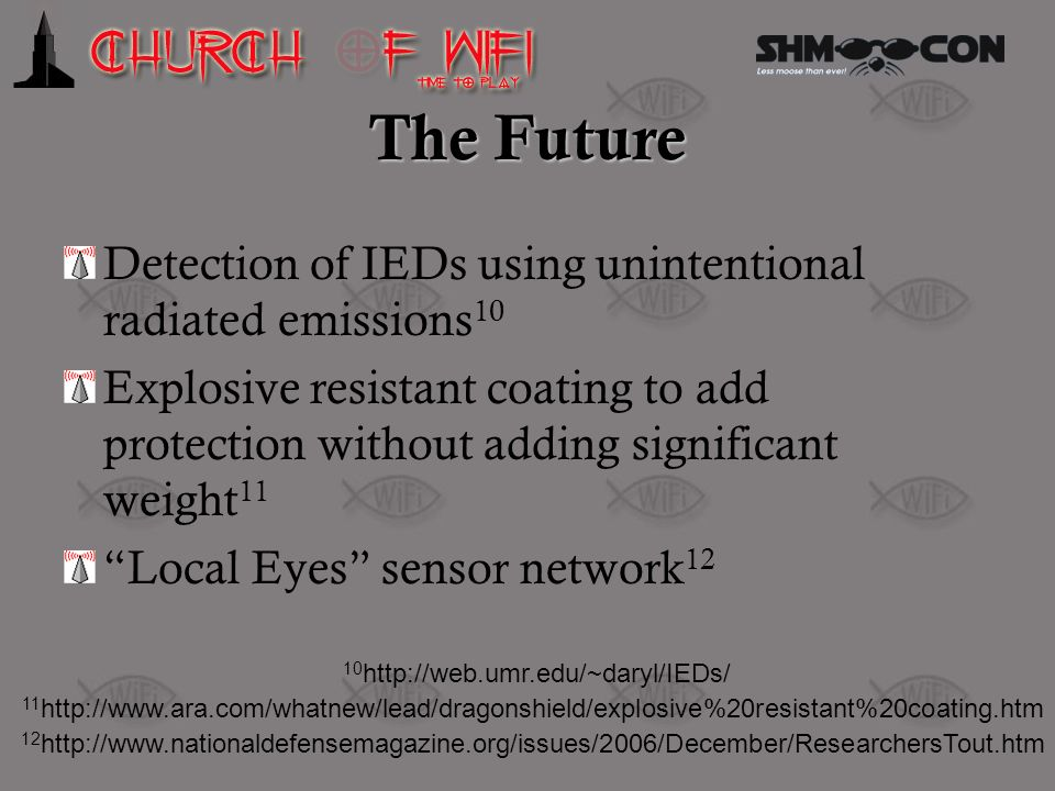 The Future Detection of IEDs using unintentional radiated emissions10