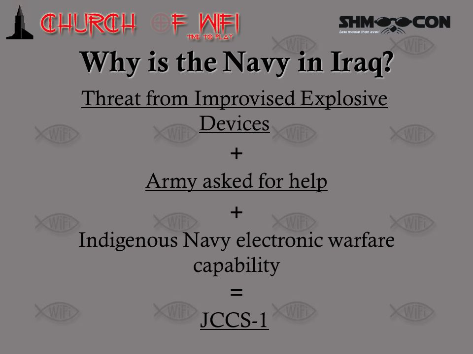 Why is the Navy in Iraq Threat from Improvised Explosive Devices +