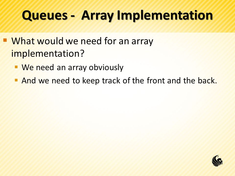 Queues - Array Implementation