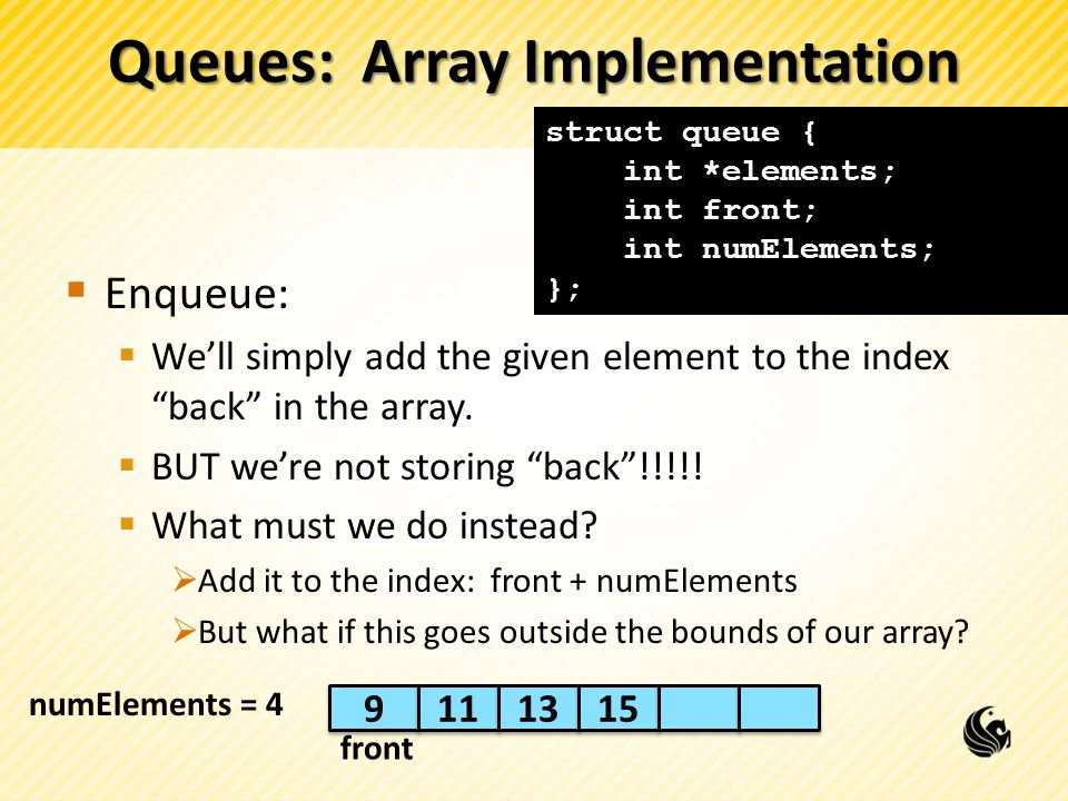 Queues: Array Implementation