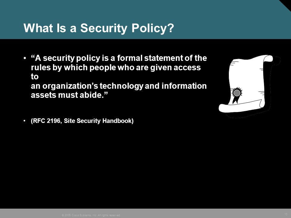 What Is a Security Policy