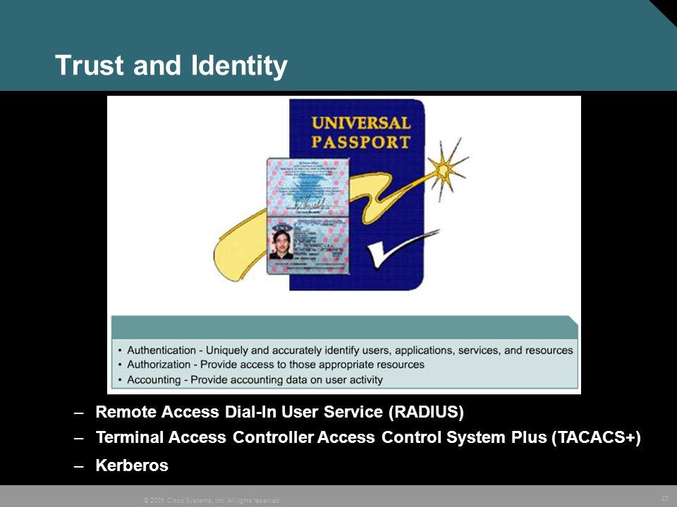Trust and Identity Remote Access Dial-In User Service (RADIUS)