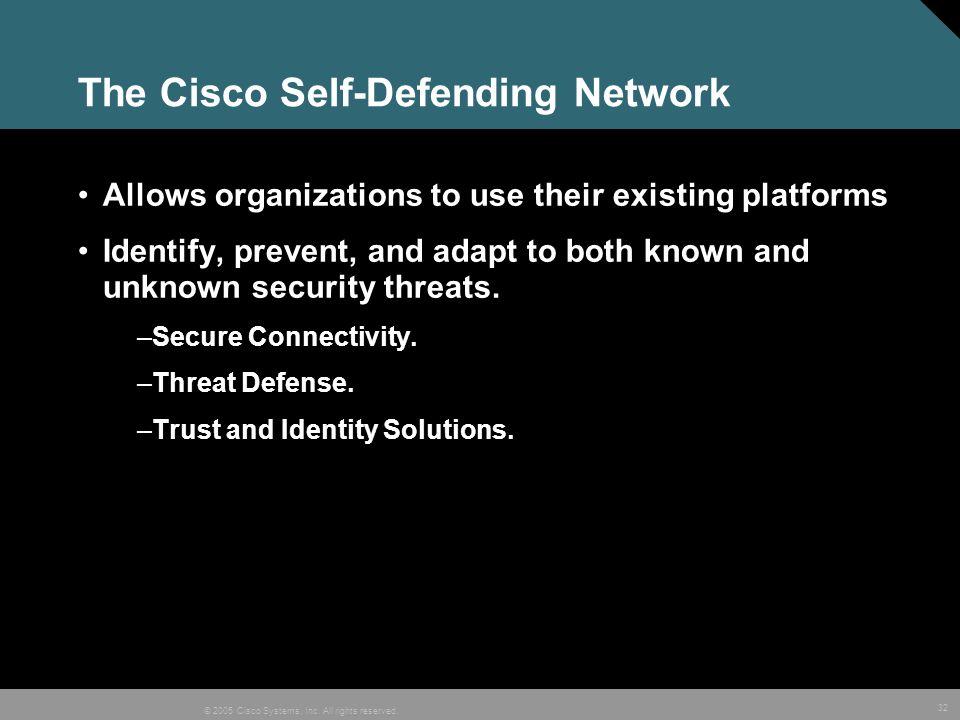 The Cisco Self-Defending Network