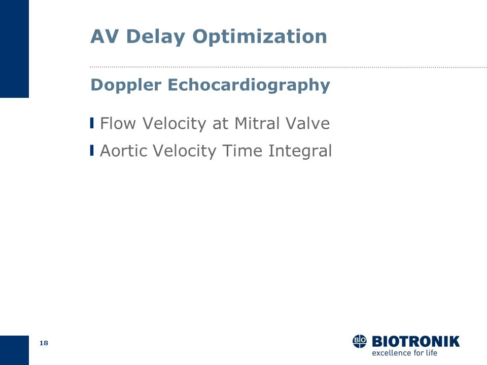 AV Delay Optimization Doppler Echocardiography