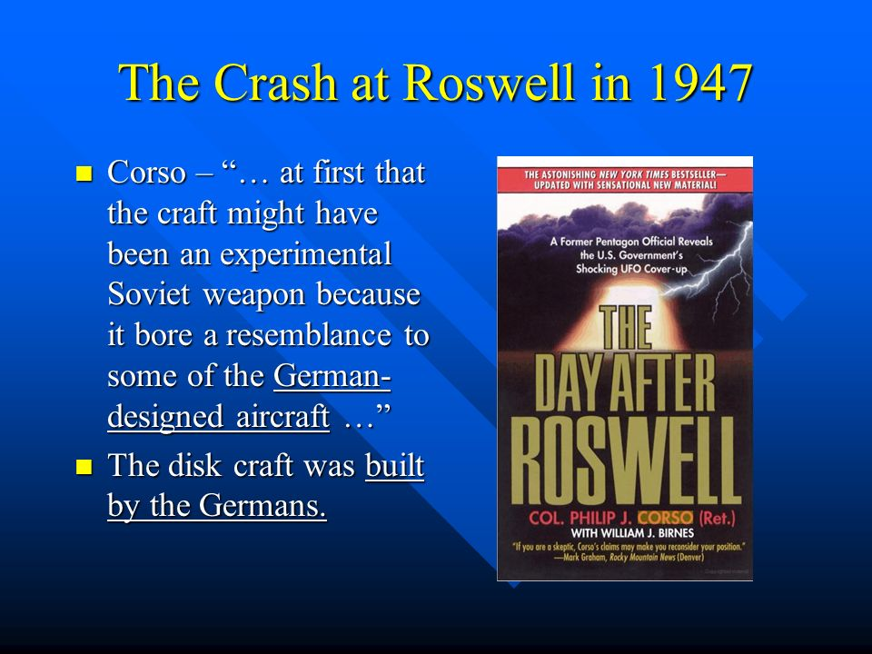 The Crash at Roswell in 1947
