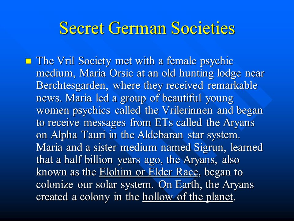 Secret German Societies