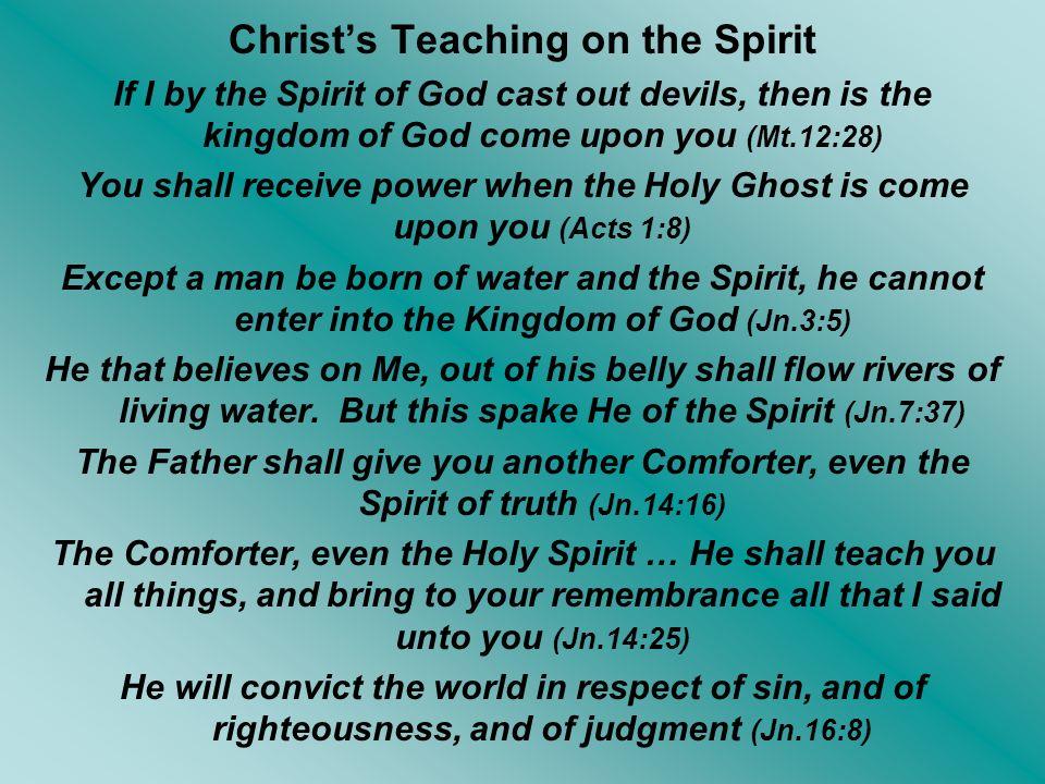 Christ's Teaching on the Spirit